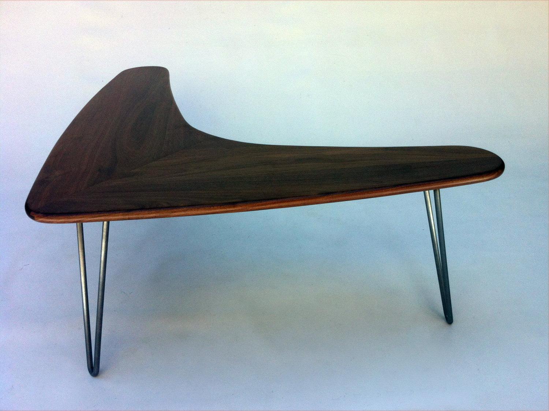 - Mid Century Modern Walnut Boomerang Coffee Table