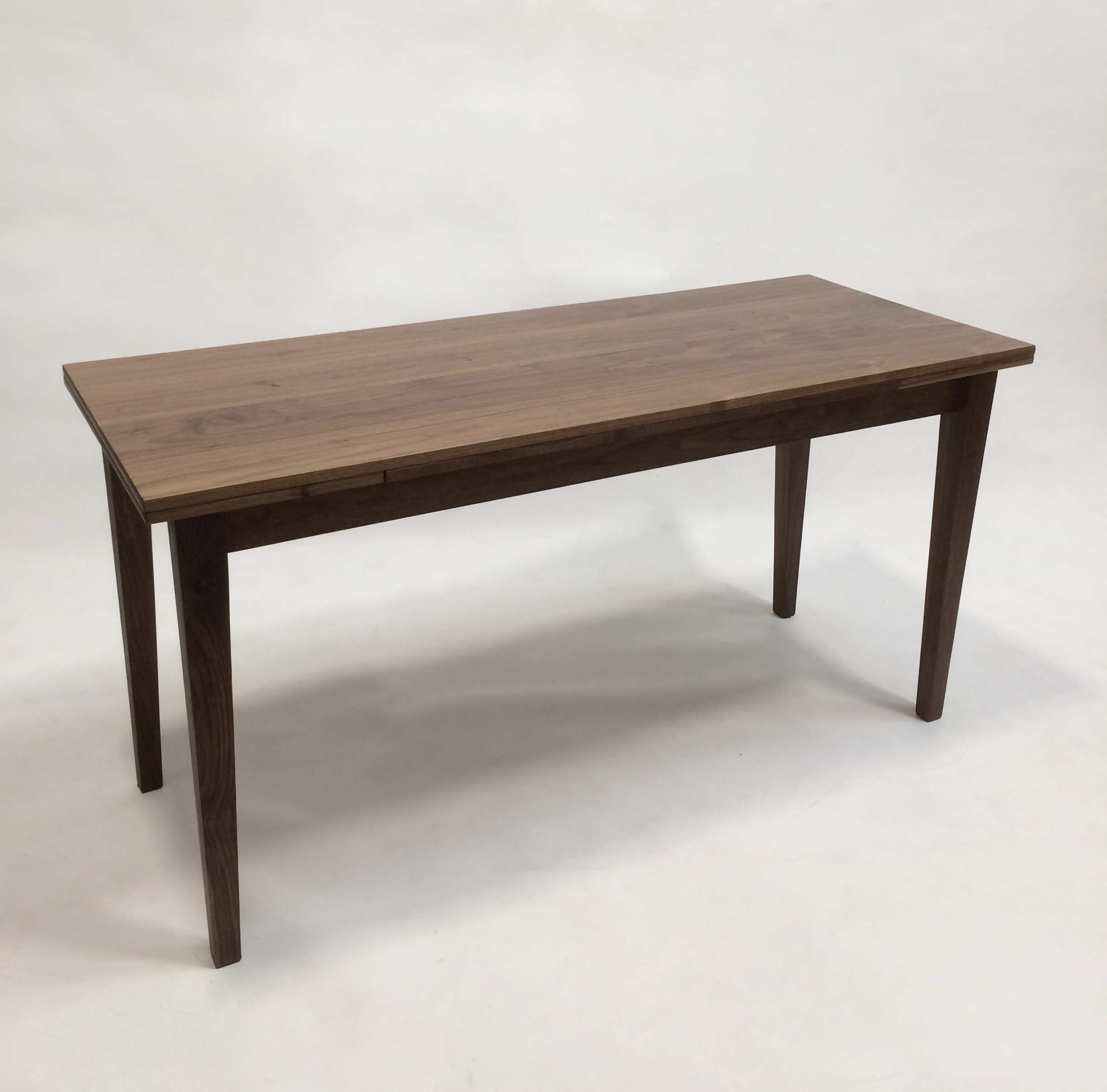 Walnut Dining Room Table - Draw Leaf Dutch Pull Out Table