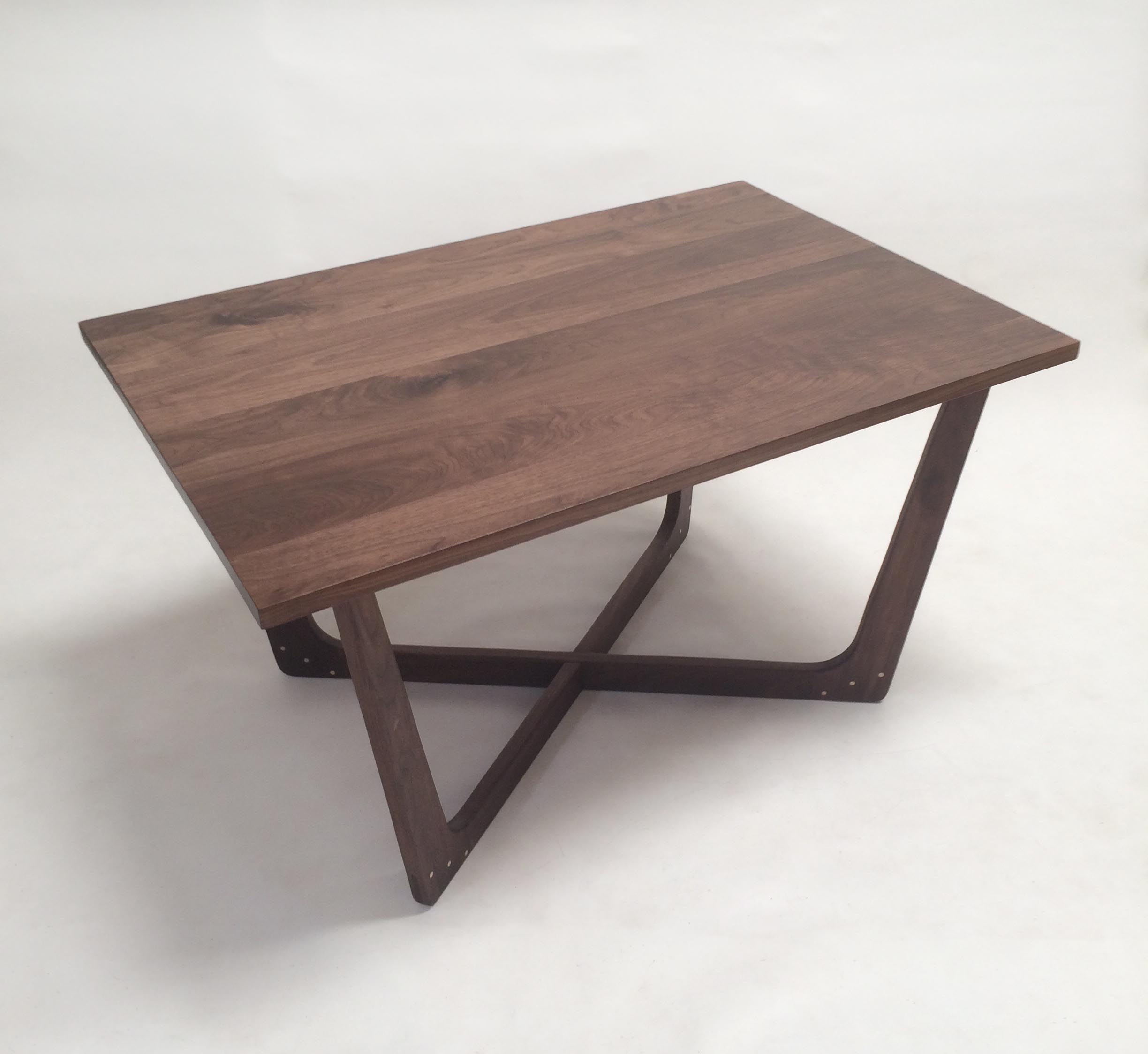 Astonishing Pearsall Inspired Dining Table Walnut With Maple Plugs Download Free Architecture Designs Griteanizatbritishbridgeorg