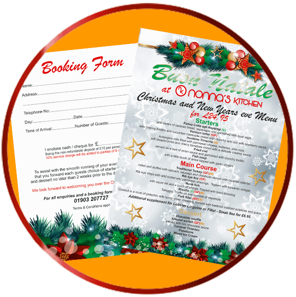 Nonna's Kitchen Christmas Menu