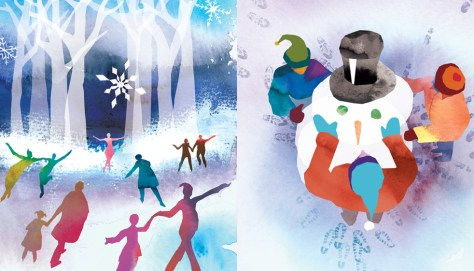 Holiday illustrations by Greg Betza