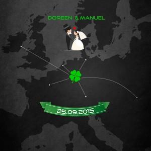 Einladungskarten Hochzeit Europa