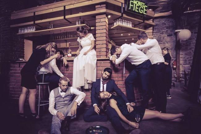 Ausgefallene witzige Hochzeitsfotos