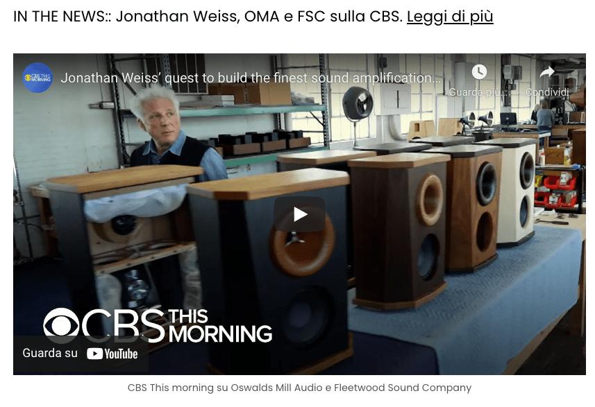 Jonathan Weiss su CBS