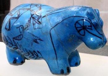 Statuette of a hippopotamus