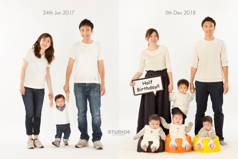 大阪 家族写真