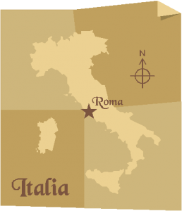 basic map of Italia clipart