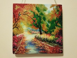 Park Diamond Painting Embroidery Kit Completed