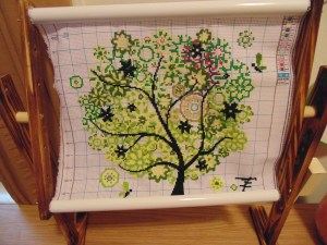 Spring Tree Cross Stitch Kit