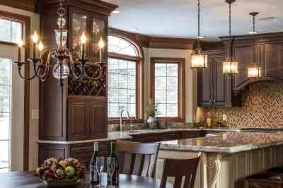 Traditional Kitchen, wine storage
