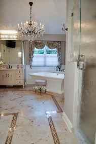 Feminine master bath, chic details