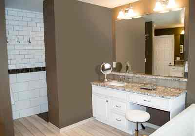 Traditional master Bath, walk-in shower