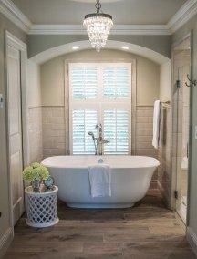 Farmhouse bathroom tub centerpiece