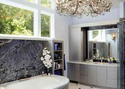 Luxury bathroom shower bathtub NEFF cabinetry