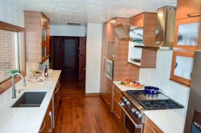 Midcentury modern custom kitchen cabinets