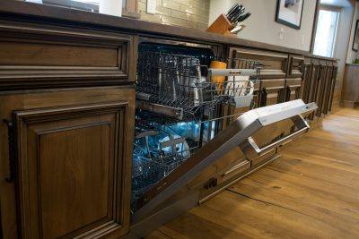 Dishwasher and traditional custom cabinets