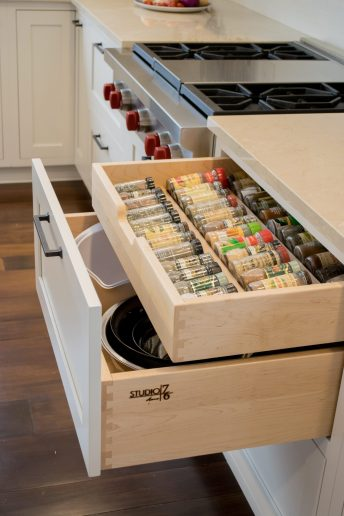 Custom spice drawer from Studio 76 Home