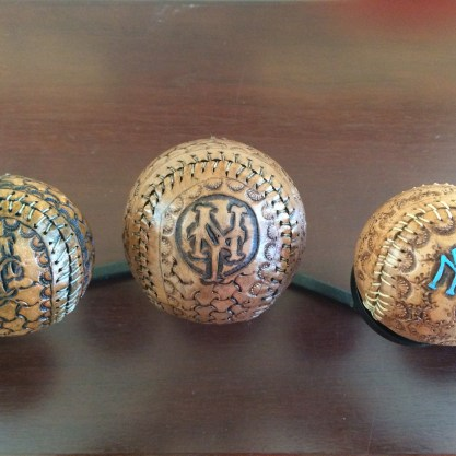 Custom Made Leather Baseballs