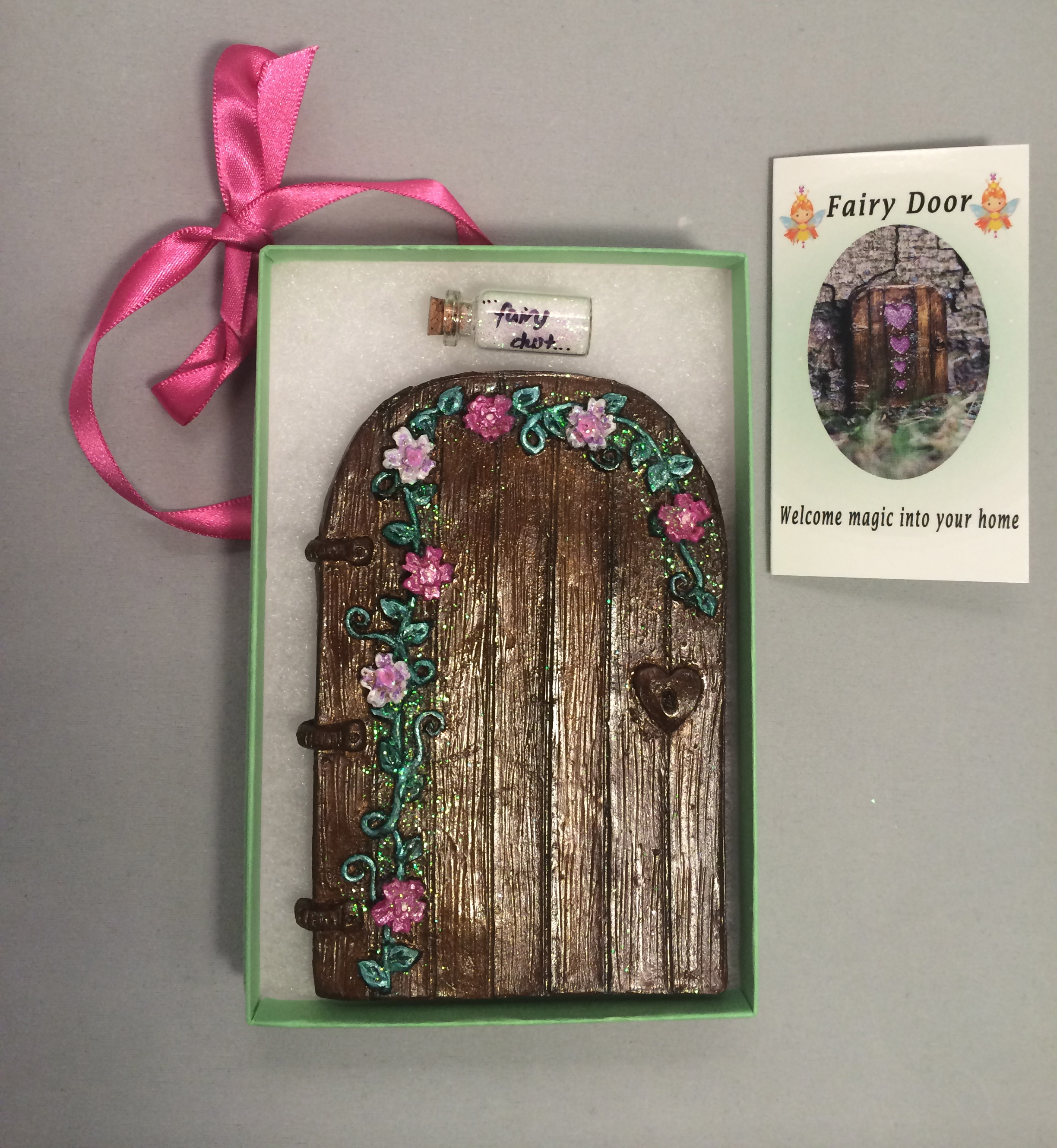 The best selling flower fairy door in pink and white from studio 7t7