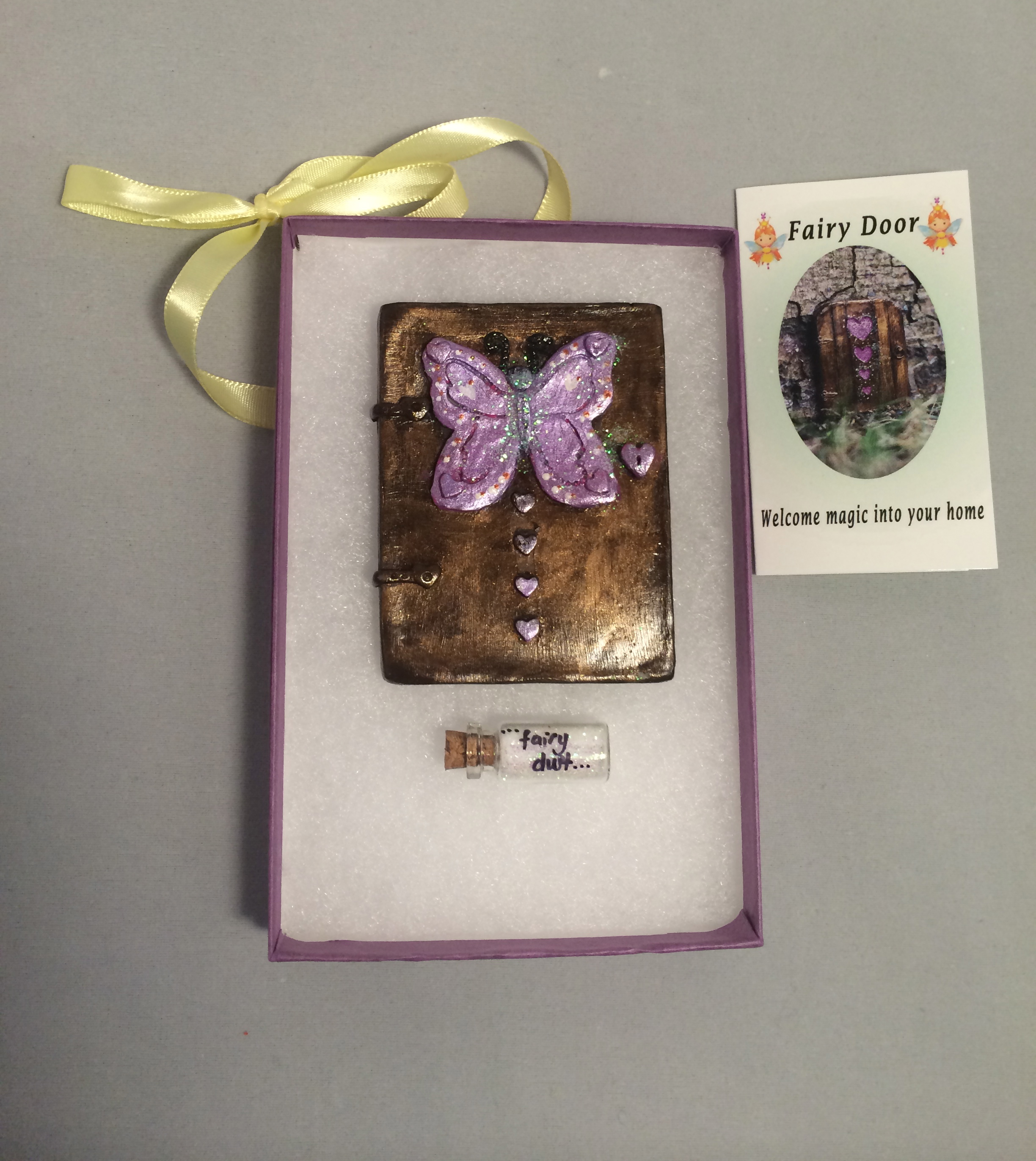 Butterfly Fairy Door – lilac (3)