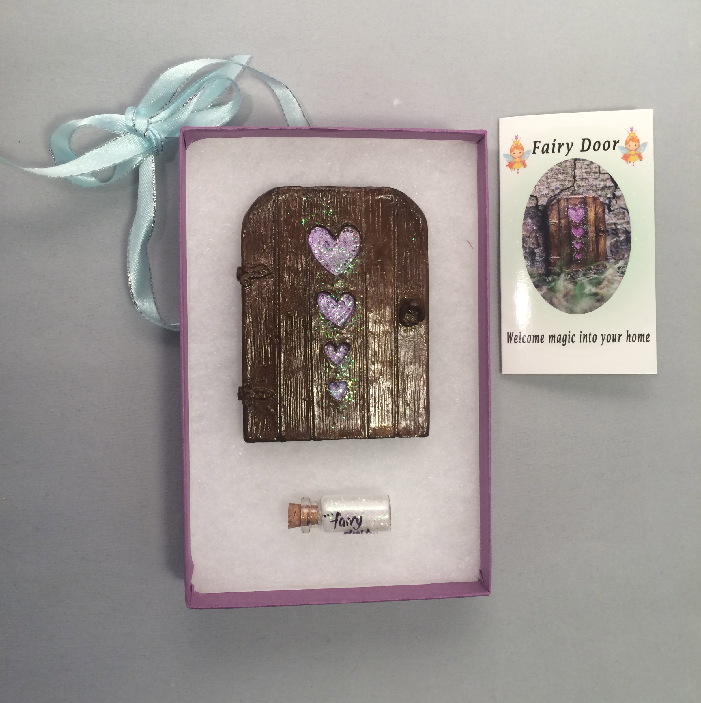 Hearts Fairy Door – lilac