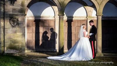 Shadow of bride & groom