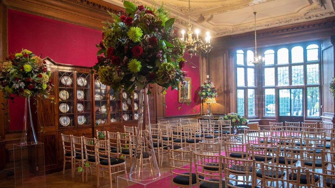 The Ceremony Room at Thornton Manor. Wirral wedding photography by Studio 900