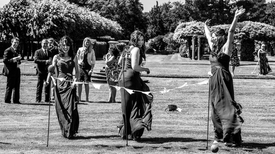 Garden games at a weddimg