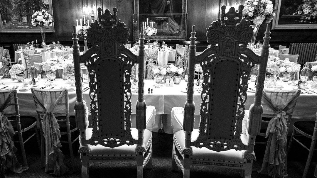 Thornton Manor Music Room Throne for bride & Groom