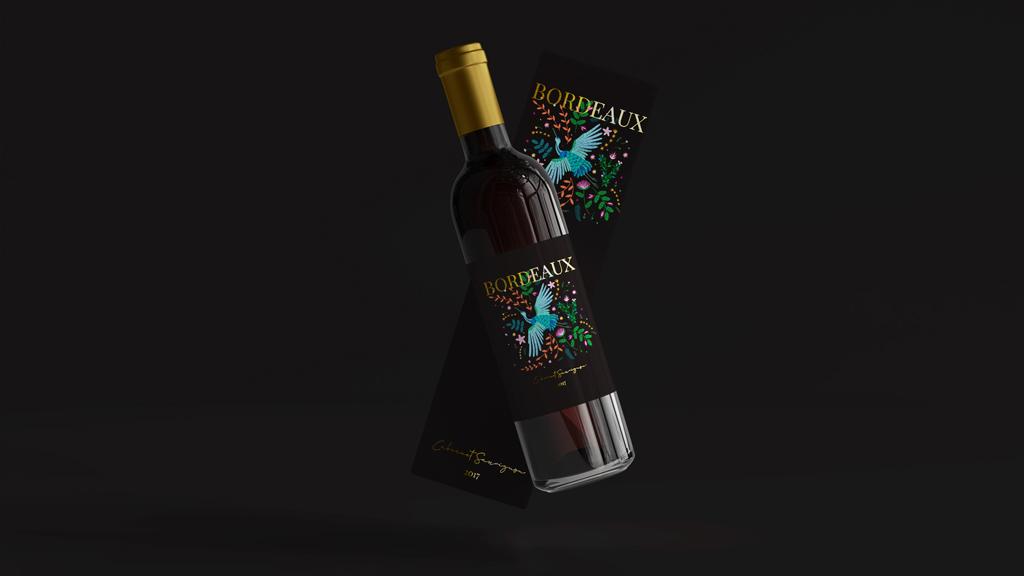projekt etykiety na wino
