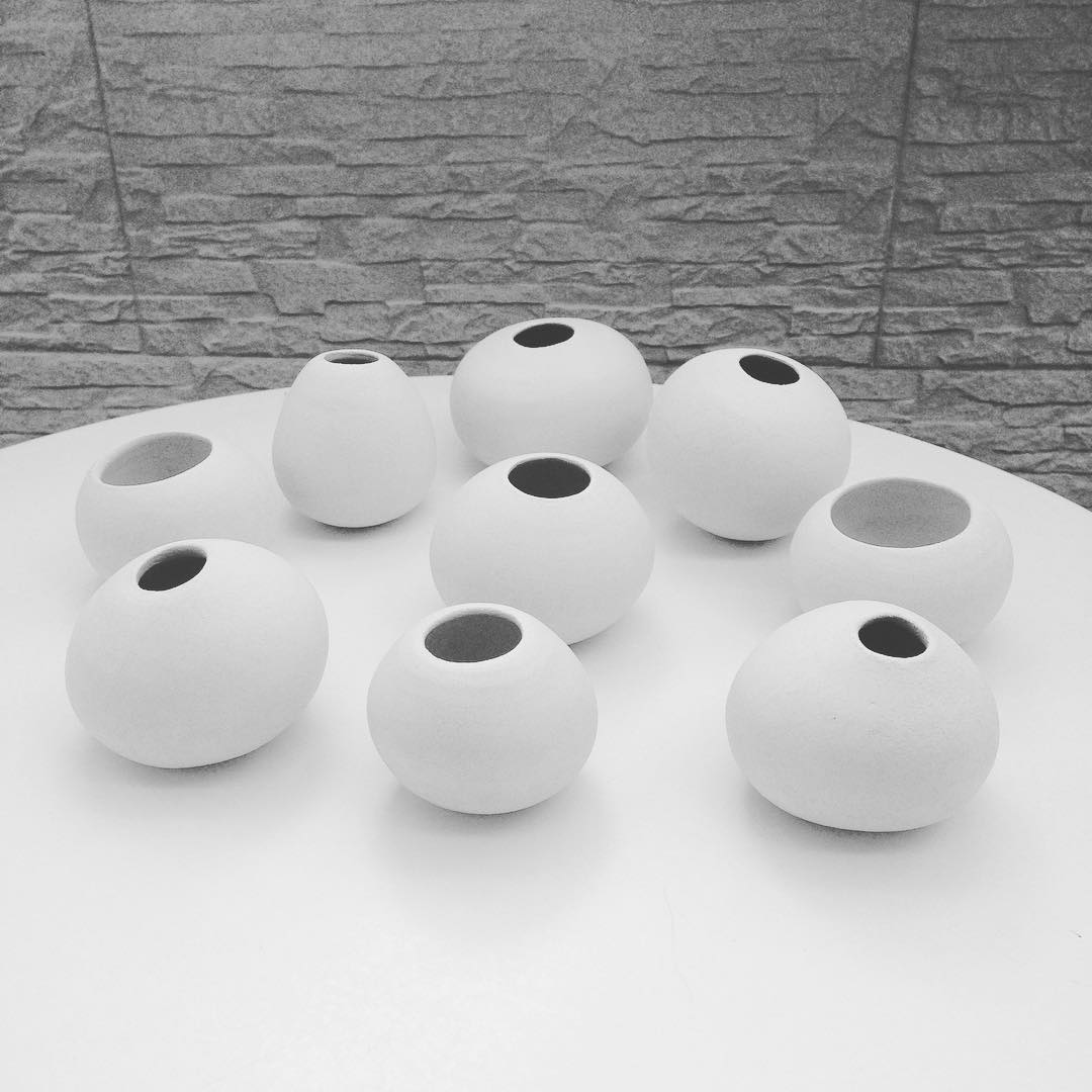 Loving these rounded test pieces. They are so nice to hold!  #experimentation #handmade #pottery #ceramics #clay #madeinsg #studioasobi