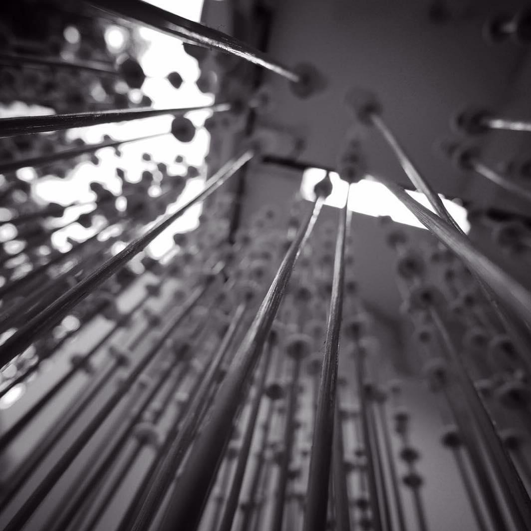 We took a peek beneath our clouds :) Photo by our partner, Aaron Lee from @woodfix.sg  #Singaplural #mixedmedia #art #installation #ifeelthecloudssinging #clay #rattan #wood #studioasobi #woodfix #setup #madeinsg #sgdesignweek #ceramics