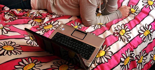 notebook mamma letto