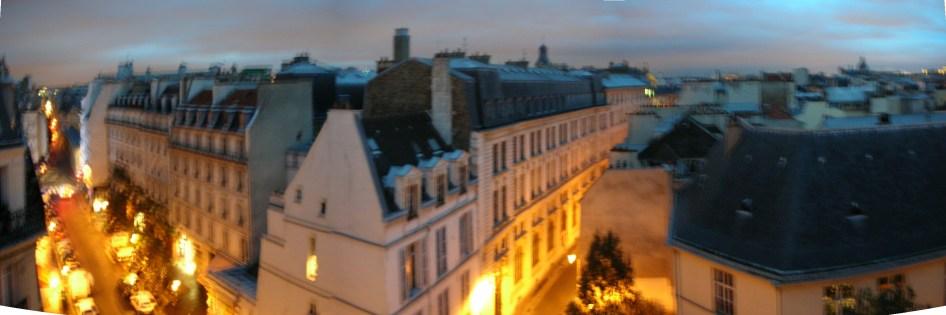 Panorama depuis le balcon du séjour