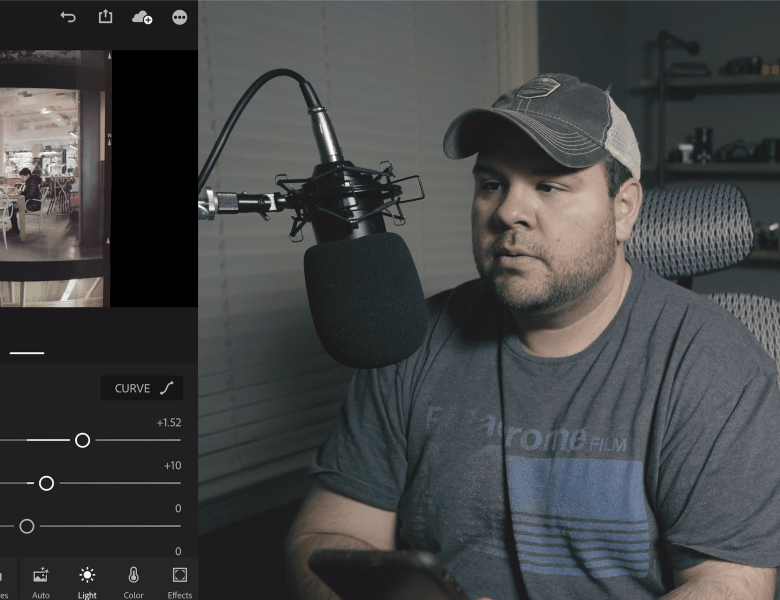 Converting Film Negatives with Lightroom Mobile