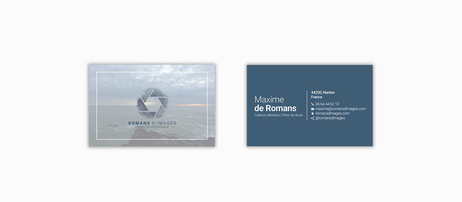 Création carte de visite Romans d'Images