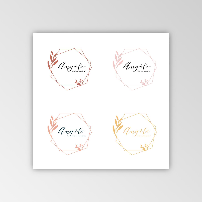 Logo Angèle Photographie proposition de couleurs