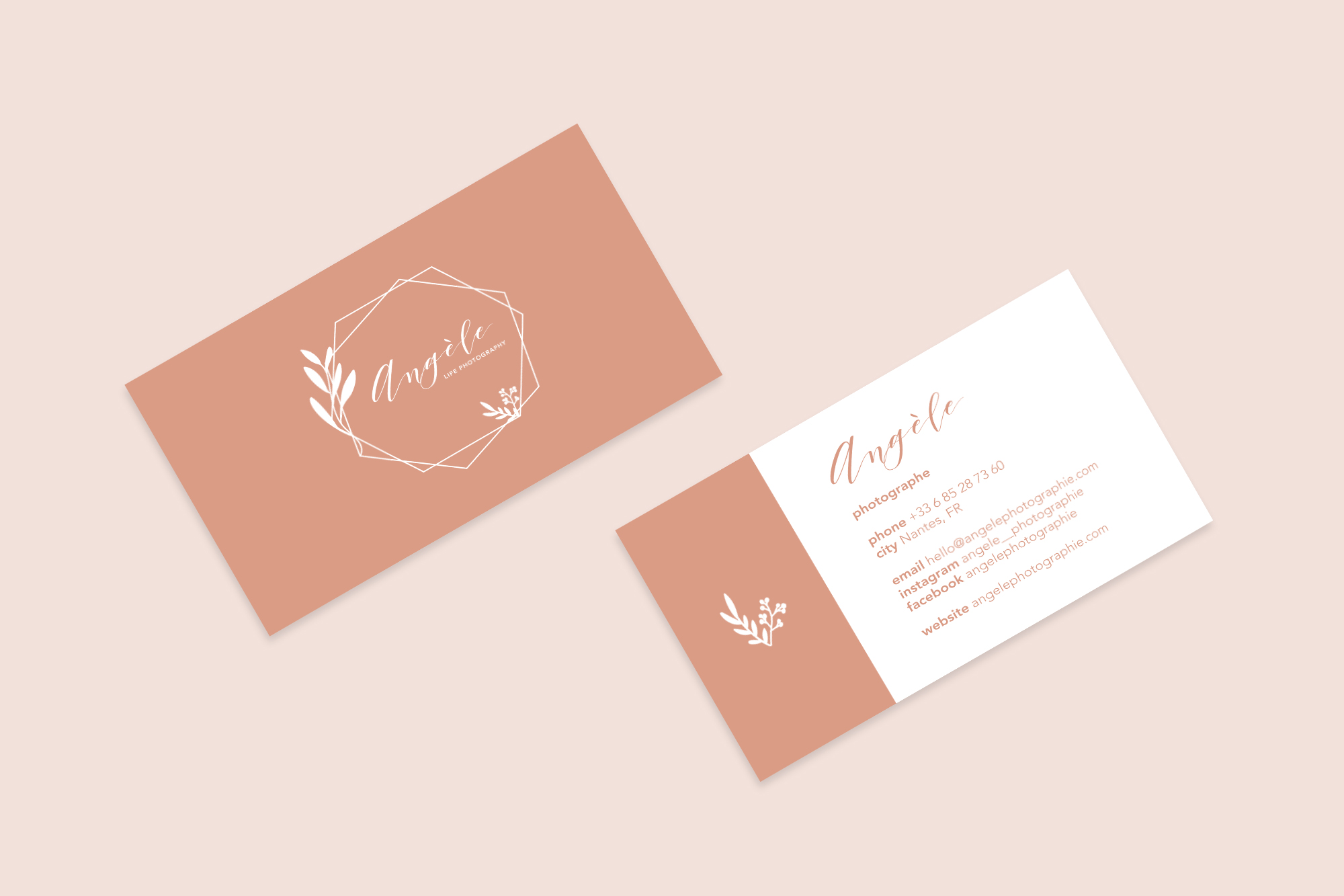Business card Angèle Photographie