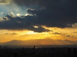 Sunset view sur le Mont Fuji