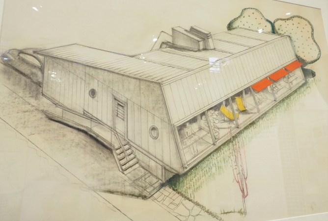Georges-Henri Pingusson - Perspective d'un projet d'habitation individuelle