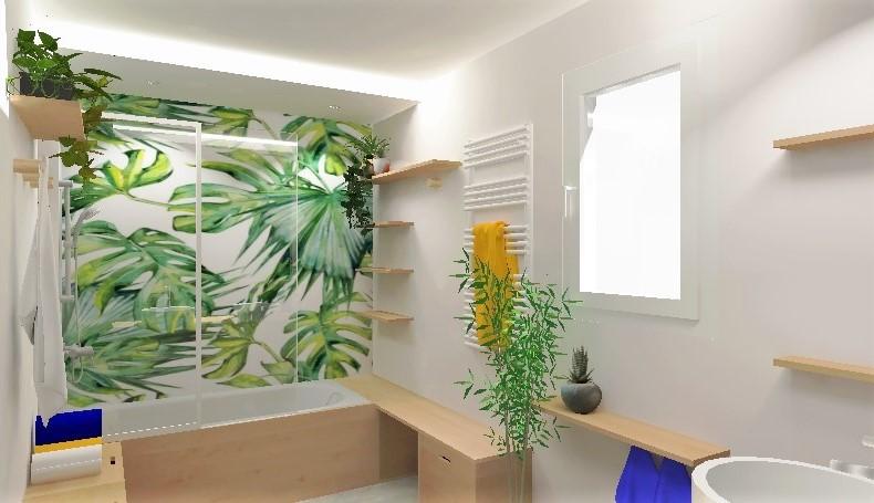Un mur végétal qui se reflète à l'infini
