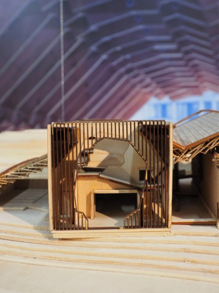 Maquette de la Maison d'hôtes Wa Shan - Une découpe comme un cadre