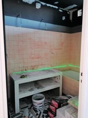 meuble vasque en wedi en cours