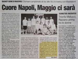 Cronache di napoli Studio Delos medical staff Napoli basket