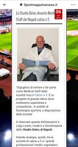 sportmagazinenews.it Studio Delos fisioterapia medical staff Napoli calcio a 5