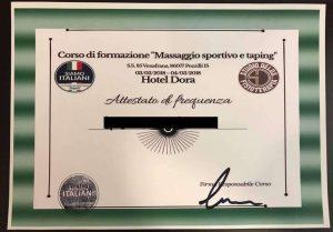 Massaggio sportivo e taping organizzatore Studio Delos