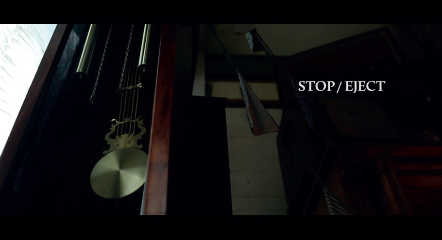 still from stop eject opening titles, directed by neil oseman