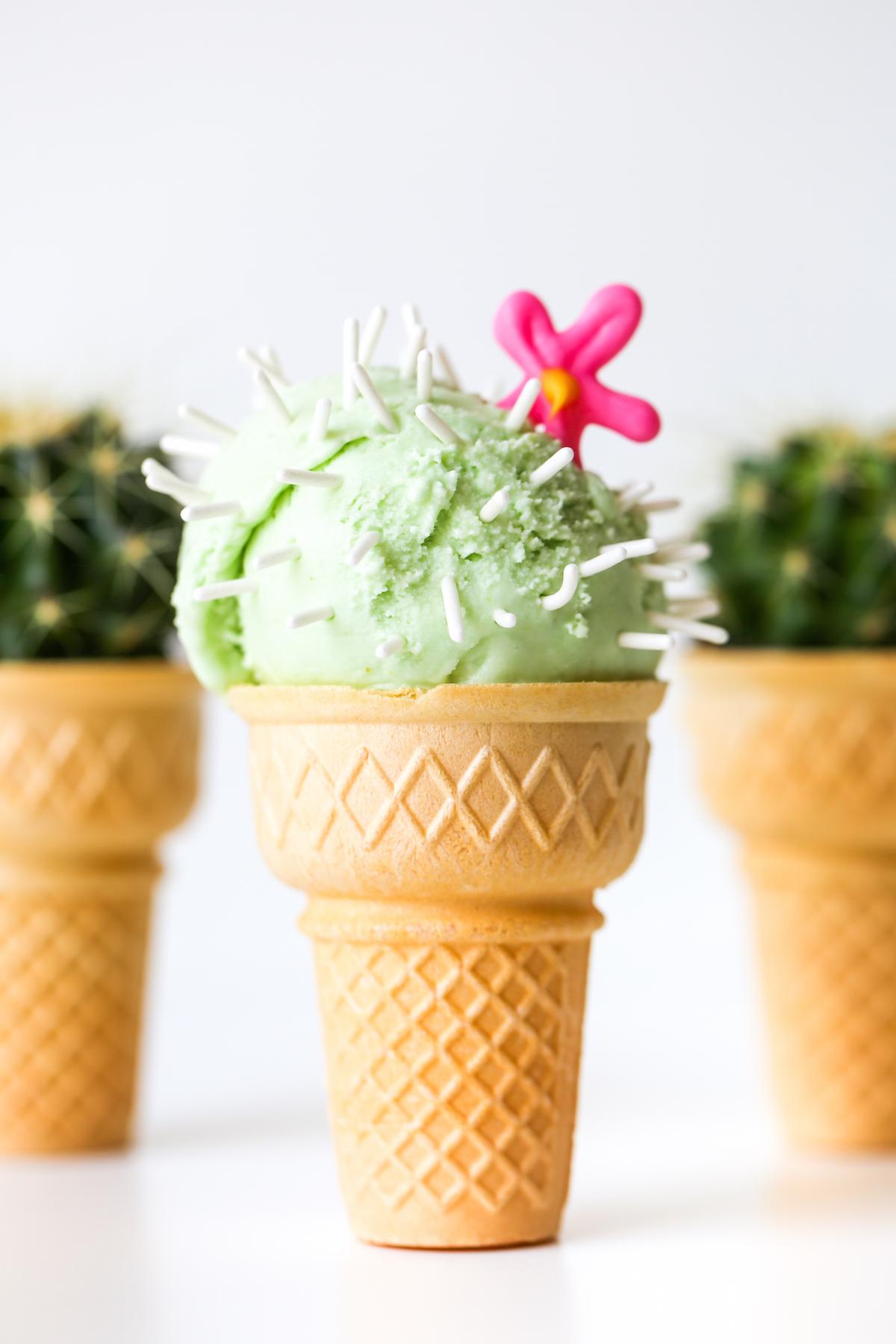 Cactus Ice Cream Cones Studio DIY