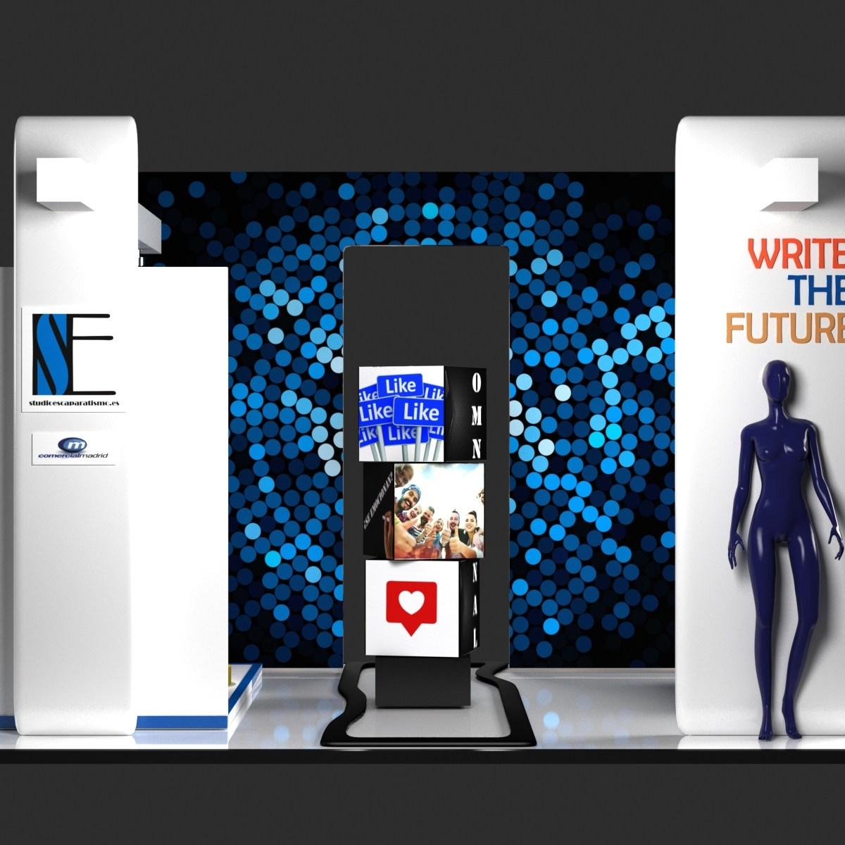 Diseño futurista de tiendas físicas donde las experiencias de compra despiertan los sentidos de los clientes.