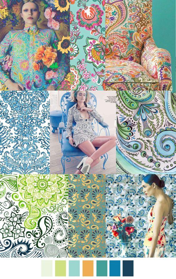 Tendencias de color para diseño decoración